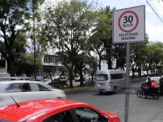 Señalética 30 km/h en Puebla